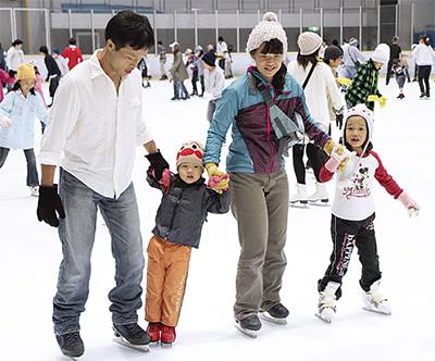 親子でスケート体験