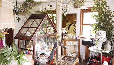 カフェで骨董品探し西洋アンティーク