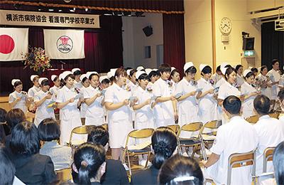 62人の看護師が巣立つ