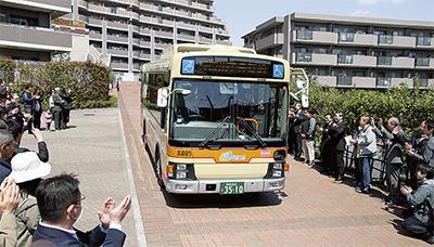 新設路線バスに住民喜ぶ