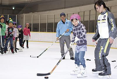 真夏にスケート