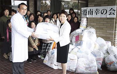 南部病院に綿布を寄贈