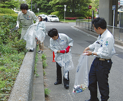 MM地区を一斉清掃