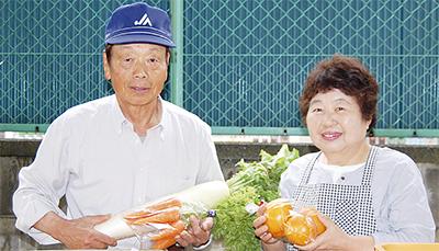 「地元の新鮮野菜をどうぞ」