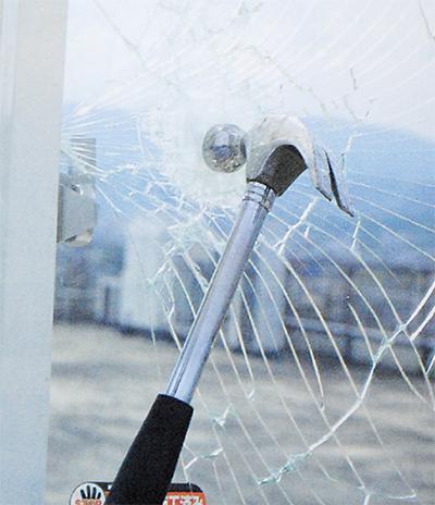窓ガラスフィルムで被害減