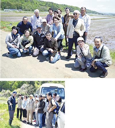 天栄村の田んぼを視察