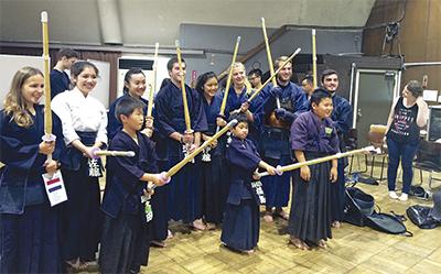 留学生が剣道体験