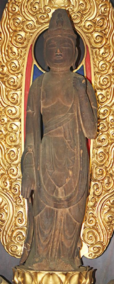 木造菩薩(ぼさつ)像が市文化財に