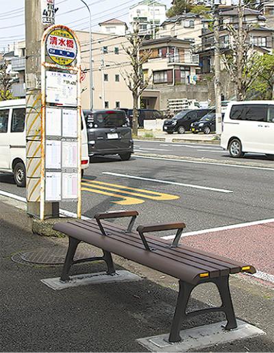 バス停にベンチを設置