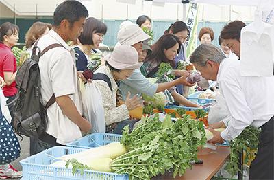 区産野菜の直売開始