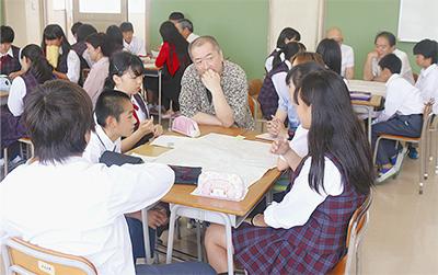 生徒と住民が意見交換