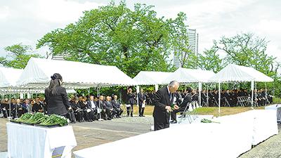 平和を誓い戦没者追悼