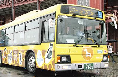 観光地巡るバス路線運行