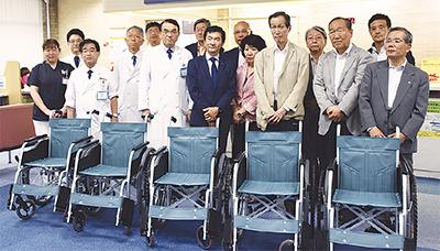 南部病院へ車椅子寄贈