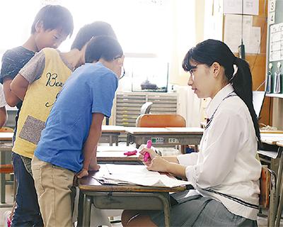 永谷高生が学習支援