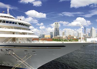 「港と客船」の写真募集