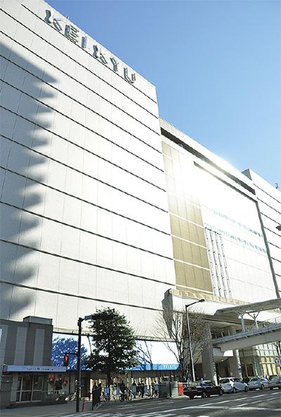 京急百貨店屋上にサッカー教室
