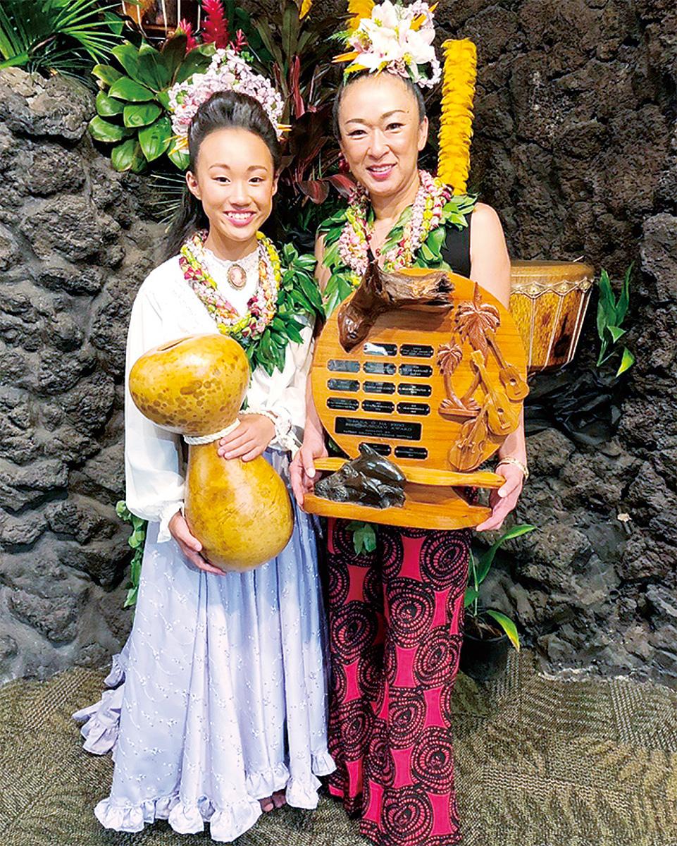 ハワイでフラ大会2位