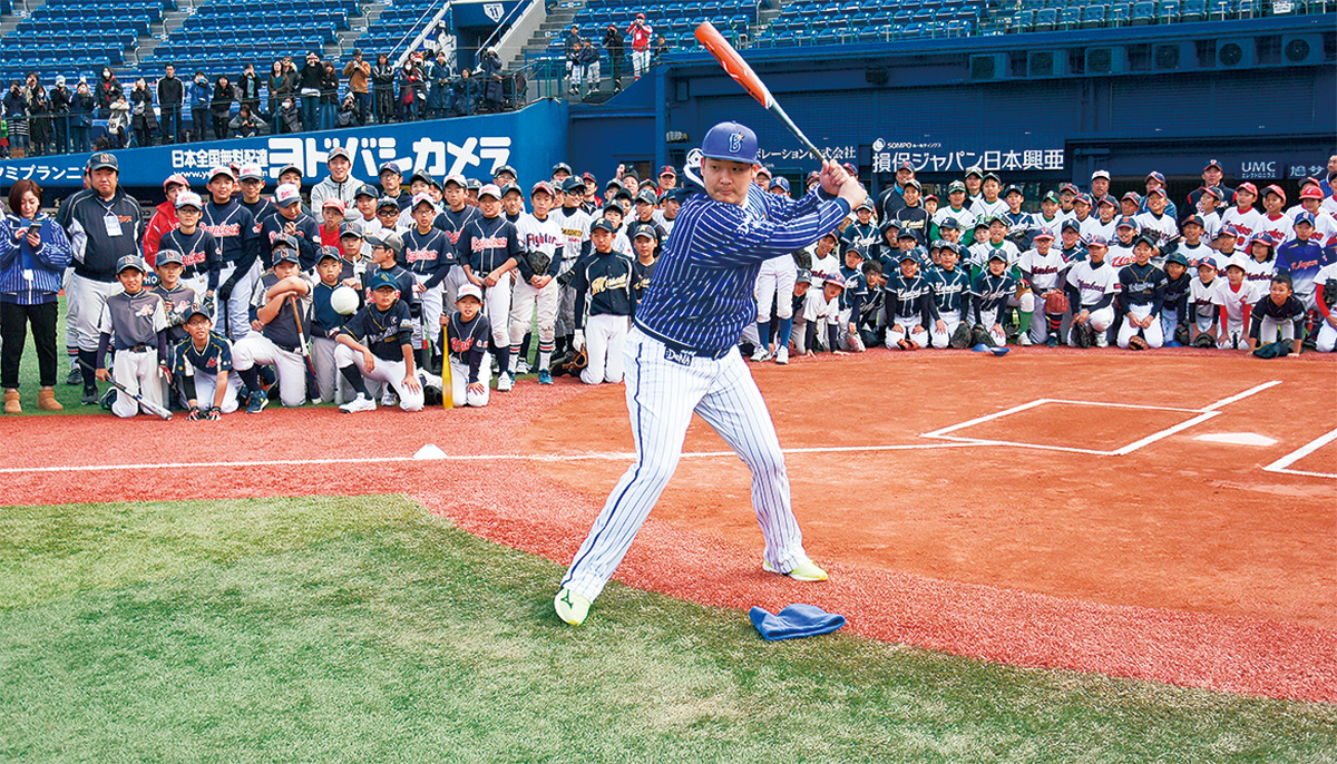 横浜DeNAベイスターズ小学生3千人に野球指導