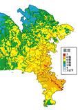 三浦半島断層群で地震が起きた場合の推計震度分布図(平成21年3月発行の神奈川県地震被害想定調査報告書より引用)