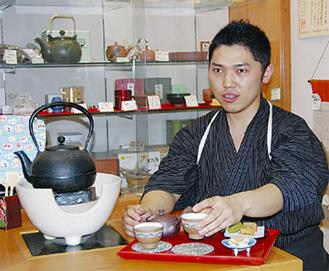 「お茶の良さ知って」と川井さん