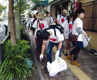 関内地区を清掃する会員