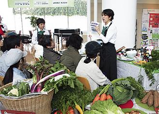 横浜の農をPRする