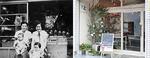かつての駄菓子屋(左=昭和28年当時)がお洒落な絵本カフェに