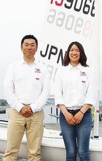 土居さん(右)と佐々木コーチ