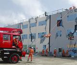 みなとみらいの耐震バースでは大規模な救出・救助訓練などが行われる(写真は以前行われた訓練)