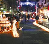 キャンドルがクリスマスムードを演出(写真は昨年)