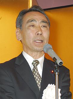 挨拶する松本氏
