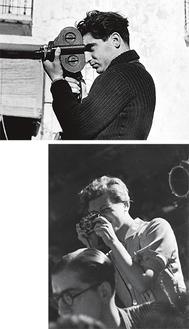 ゲルダ・タロー 《ロバート・キャパ、セゴビア戦線》1937年ゼラチン・シルバー・プリント、ICP蔵、© ICP(上)撮影者不詳《ゲルダ・タロー、グアダラハラ戦線》1937年7月ゼラチン・シルバー・プリント、ICP蔵、© ICP(右)