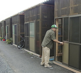仮設住宅の見回りなどを実施してきた=中区提供