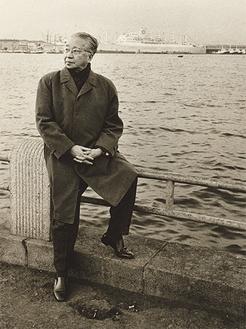 ▲横浜港を背に(1969年)