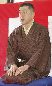 銭湯通いも趣味という演者の三遊亭時松さん