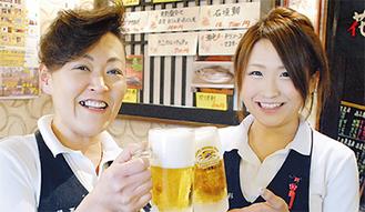 ビールの美味しい季節(参加店の花夏彩)
