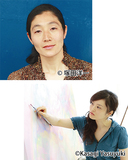 ダンサーで振付家の中村さん(上)と、現代芸術家の曽谷さん=市提供