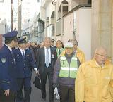 協議会や警察、中区による防犯パトロールも=11日