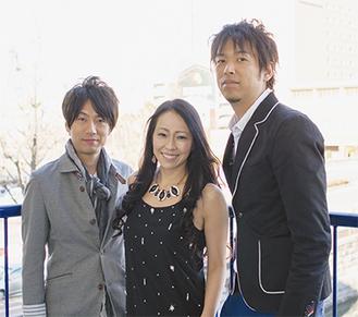 「木村至信BAND」のメンバー。左から枝智之さん、木村至信さん、塩沢タモツさん