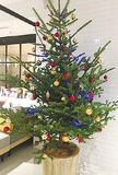 館内はクリスマスムード一色