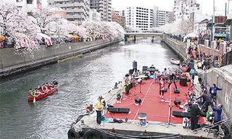 大岡川の昨年の様子(実行委提供)