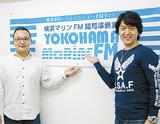 笹原代表(左)とDJを務めた新井さん