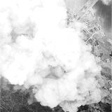 神奈川区への爆撃時、東神奈川駅上空から空撮した写真【山本博士資料(横浜市史資料室所蔵)】