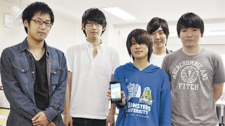 アプリ開発に携わった学生たち