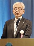 あいさつに立った(株)横浜国際平和会議場の鈴木社長