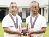 初優勝した山田さん(左)と依田さん(右)