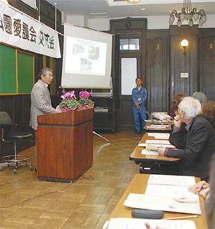 活動を紹介する本牧元町の須藤さん