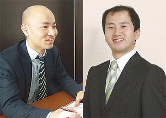 澤口さん(左)と横倉さんが相談に対応