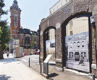 旧開通合名会社の煉瓦壁